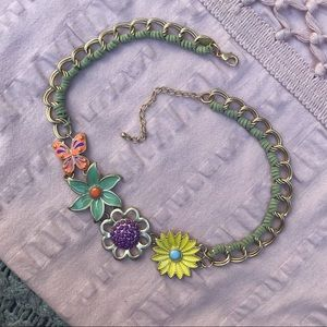 Lia Sophia Floral/Butterfly Necklace